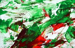 Green red bright vivid painting backround, abstract painting watercolor background royalty free stock photo