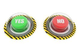 Green and red button Stock Photos