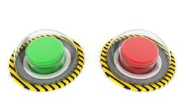 Green and red button Royalty Free Stock Image