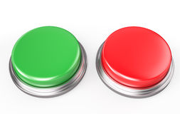 Green and Red Button Royalty Free Stock Images