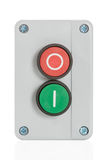 Green and red button royalty free stock photography