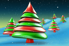 Green and red candy christmas tree Stock Photos