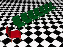 Green and red chairs Royalty Free Stock Photography