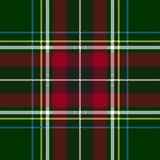 Green red check plaid texture seamless pattern. Vector illustration Stock Photography