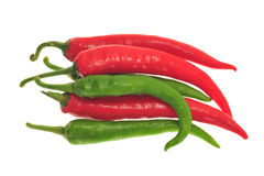 Green And Red Chili Pepper Royalty Free Stock Images