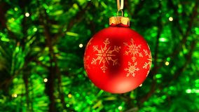 Green and red Christmas background stock video