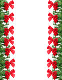 Green and red christmas border Royalty Free Stock Photo