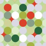 Green and red Christmas circles seamless pattern royalty free illustration
