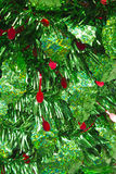 Green and Red Christmas Tinsel. For Wallpaper or Background royalty free stock photos