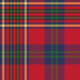 Green red classic tartan check seamless fabric texture Stock Photography