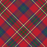 Green red classic tartan check seamless fabric texture Stock Photos