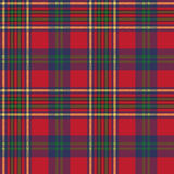 Green red classic tartan check seamless fabric texture Royalty Free Stock Photo