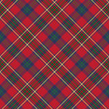 Green red classic tartan check seamless fabric texture Stock Photo