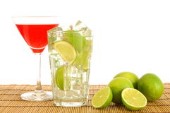Green and red cocktail Stock Photography