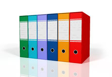 Green and red colorful binders Stock Images