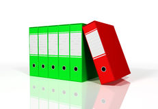 Green and red colorful binders Stock Photo