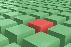 Green and red cubes stock image