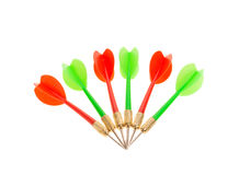 Green and red dart arrows. Royalty Free Stock Image