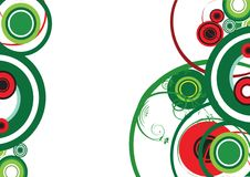 Green and red decorative circle Stock Photography