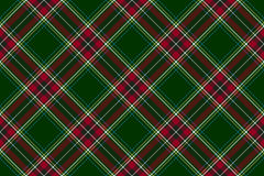 Green red diagonal check fabric texture seamless pattern Stock Photography