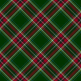 Green red diagonal check plaid seamless pattern Stock Photos