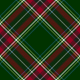 Green red diagonal check tartan textile seamless pattern Stock Image
