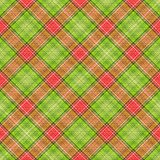 Green Red Diagonal Plaid Royalty Free Stock Photo