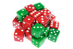 Green and Red Dice Stock Photos