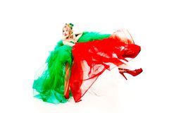 Green red dress Royalty Free Stock Photography