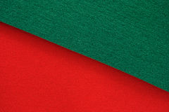 Green and red felt background Royalty Free Stock Photography