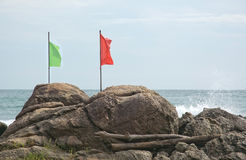 Green and red flag Royalty Free Stock Image