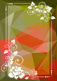 Green red floral border Royalty Free Stock Photo