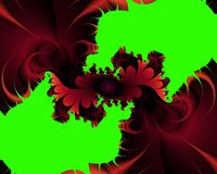 Green red fractal, flowery elegant sparkling contrasts lights, texture, abstract background. Green red fractal flowery sparkling diamond shapes fantasy bright royalty free illustration