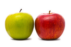 Green and red fresh apples Royalty Free Stock Image