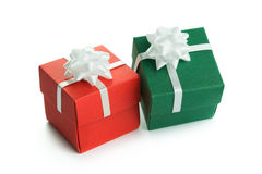 Green and red gift boxes Royalty Free Stock Photo