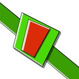 Green and red gift ribbon bow. Green and red gift ribbon and bow for your creative needs and ideas stock illustration