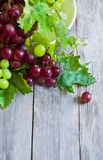 Green and red grape background Royalty Free Stock Image