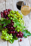 Green and red grape Royalty Free Stock Image