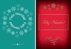 Green and red greeting cards for christmas - vector backgrounds. Green and red greeting postcards for christmas - vector backgrounds Stock Images