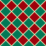 Green Red Grid Christmas Chess Board Diamond Background Royalty Free Stock Photos