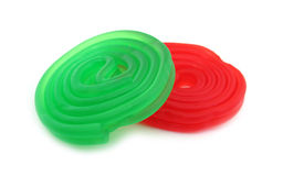 Green and red gummy sweets Royalty Free Stock Photos
