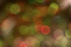 Green And Red Holiday Bokeh Background Stock Photography