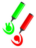 Green and red icon Royalty Free Stock Image