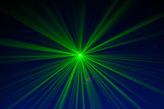 Green and red laser lights. Laser lights from an event Stock Photography