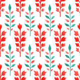 Green and red leaves Royalty Free Stock Photo