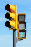 Green and red light semaphores Stock Image