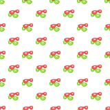 Green and red masks pattern, cartoon style. Green and red masks pattern. Cartoon illustration of green and red masks vector pattern for web stock illustration