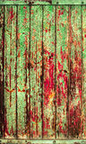 Green red old timber texture background Stock Photography