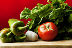 Green and red organic food Royalty Free Stock Photo