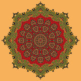 Green and Red Oriental Mandala Royalty Free Stock Images